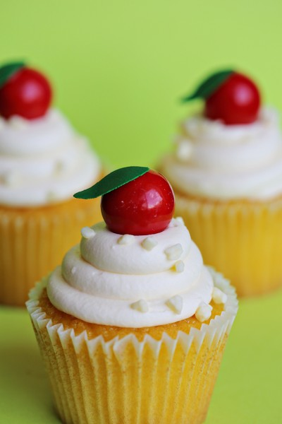 Apple Gumball Cupcakes