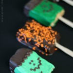Halloween: Frankenstein Rice Crispy Treats