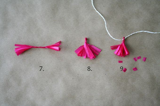 Third Steps To Finish A DIY Confetti Cake Tassel Topper