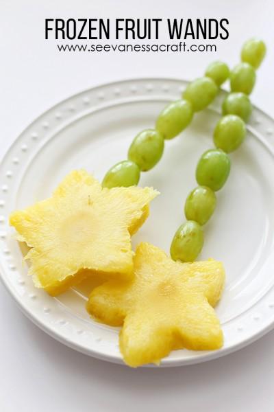 Disney FROZEN Fruit Wands Back to School Snack
