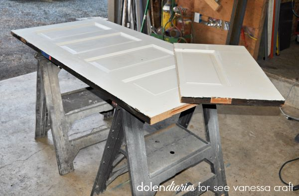 creating a headboard out of an old door