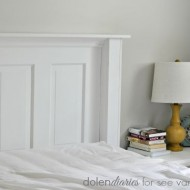 DIY Vintage Door Headboard