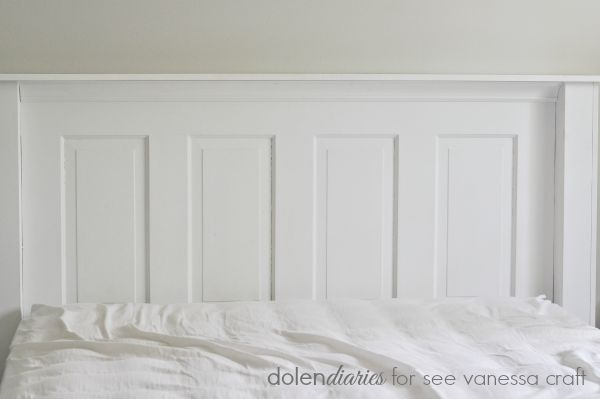 vintage door headboard is the perfect farmhouse style touch to a bedroom