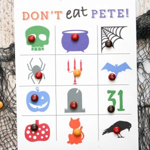 Halloween Don't Eat Pete Printable Game