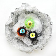 Halloween: Hairy Monster Eyeball Rings