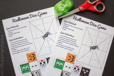 Halloween Dice Game for Kids with Free Printable