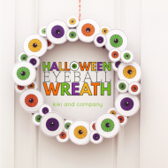 Halloween Eyeball Wreath with Free Printables