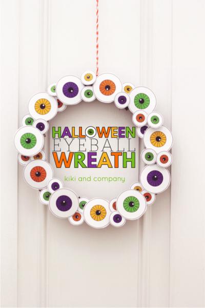 Halloween Eyeball Wreath with Free Printables