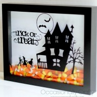 Halloween: Candy Corn Shadow Box