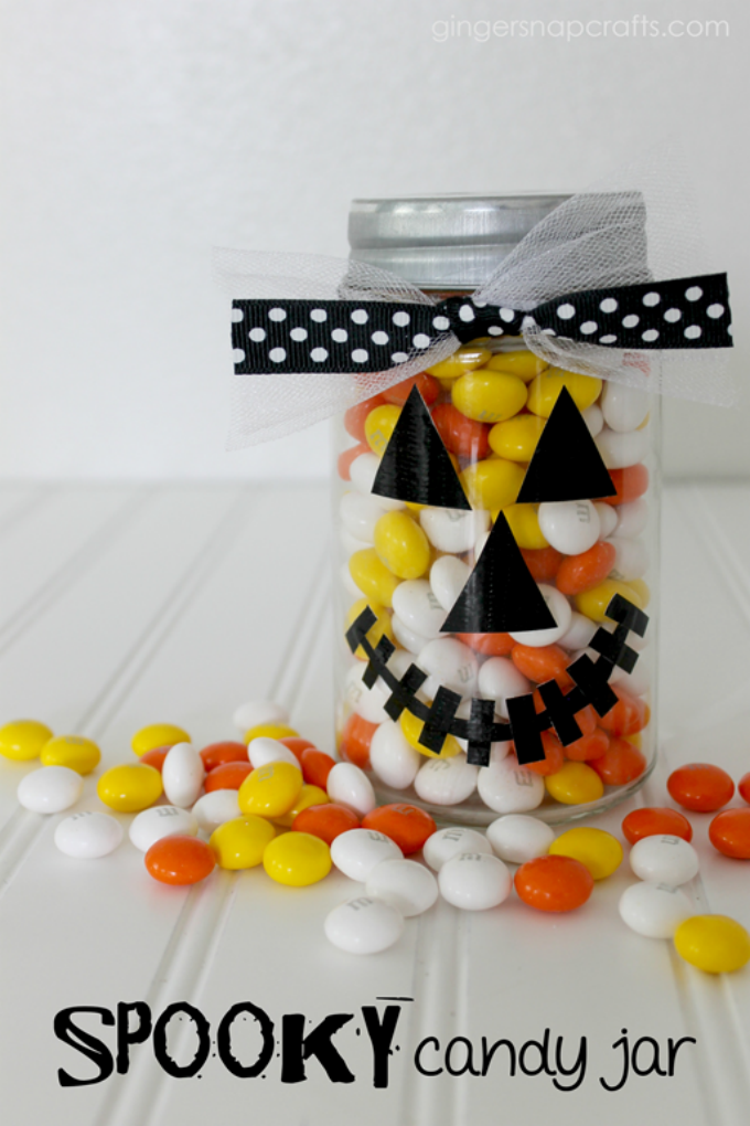 Spooky Candy Jar at GingerSnapCrafts.com #ducktape #fiskars #tutorial_thumb[1]-1