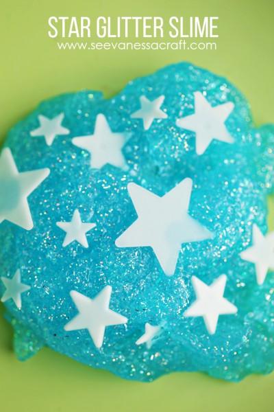 Glitter Star Slime