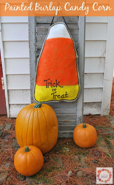 burlap candy corn- labeled