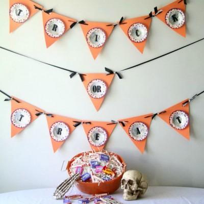 DIY cupcake liner Halloween Banner