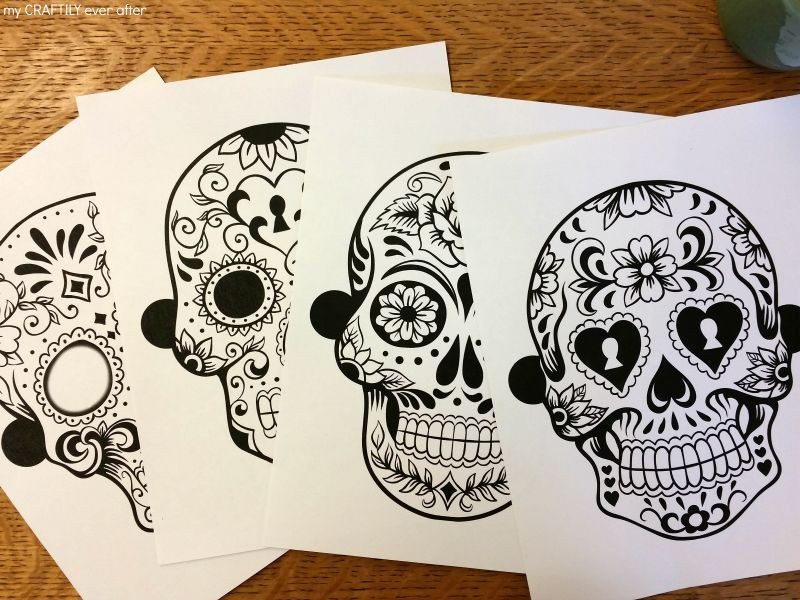 Halloween: Printable Sugar Skull Masks - See Vanessa Craft