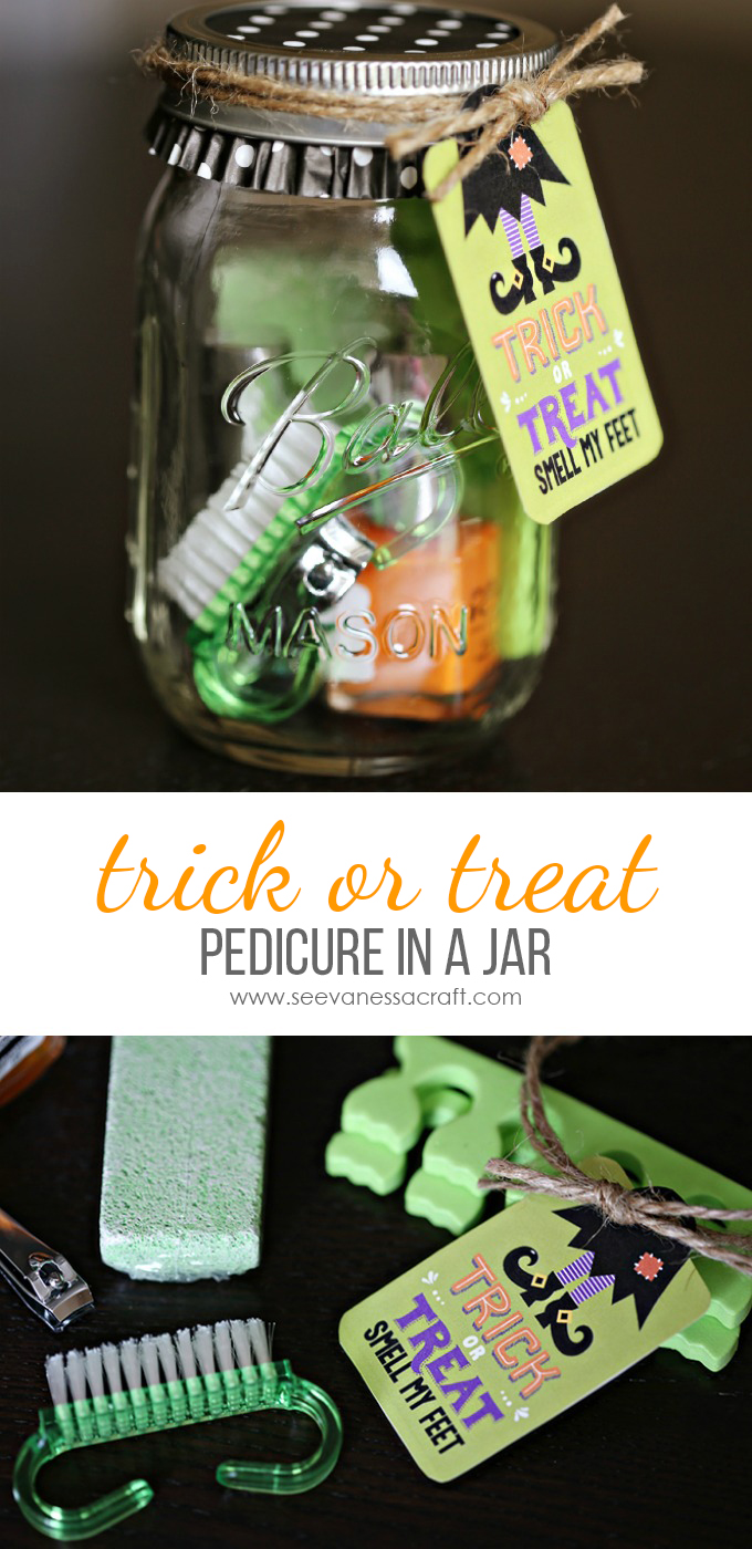 Halloween Pedicure in a Jar