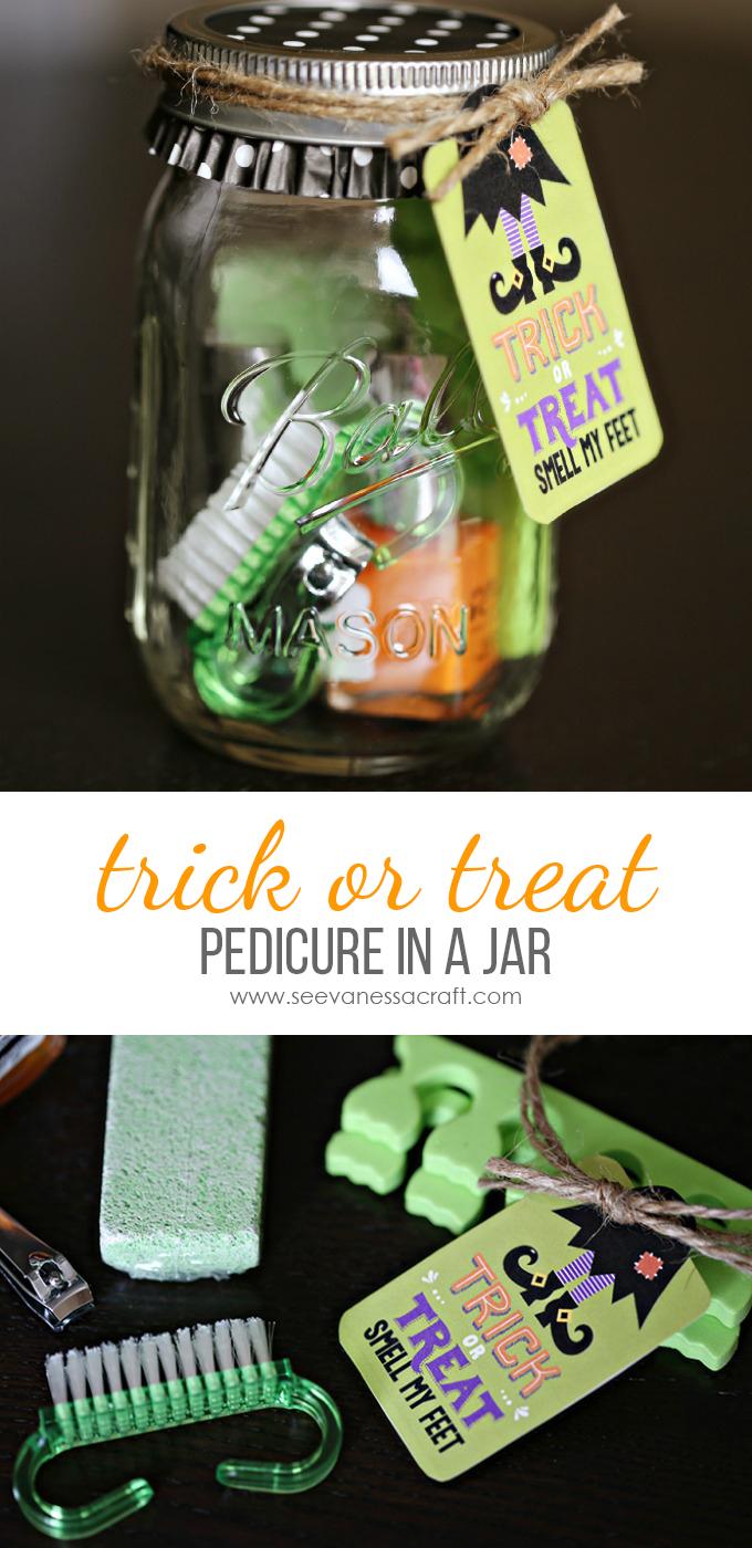 Halloween Pedicure in a Jar