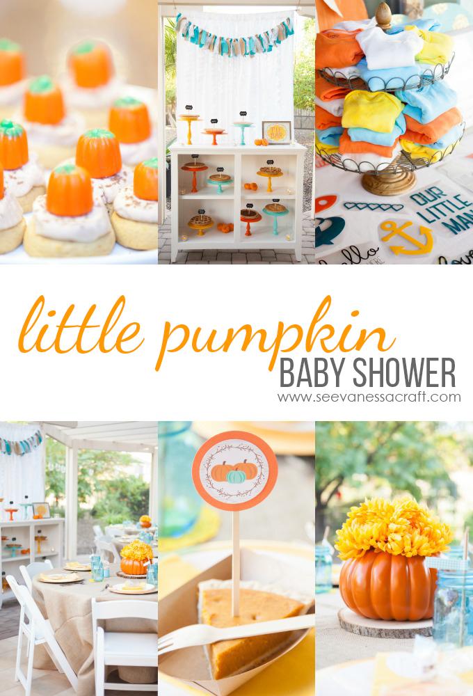 Pumpkin Baby Shower Collage copy