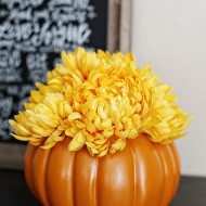 Craft: Floral Pumpkin Centerpiece