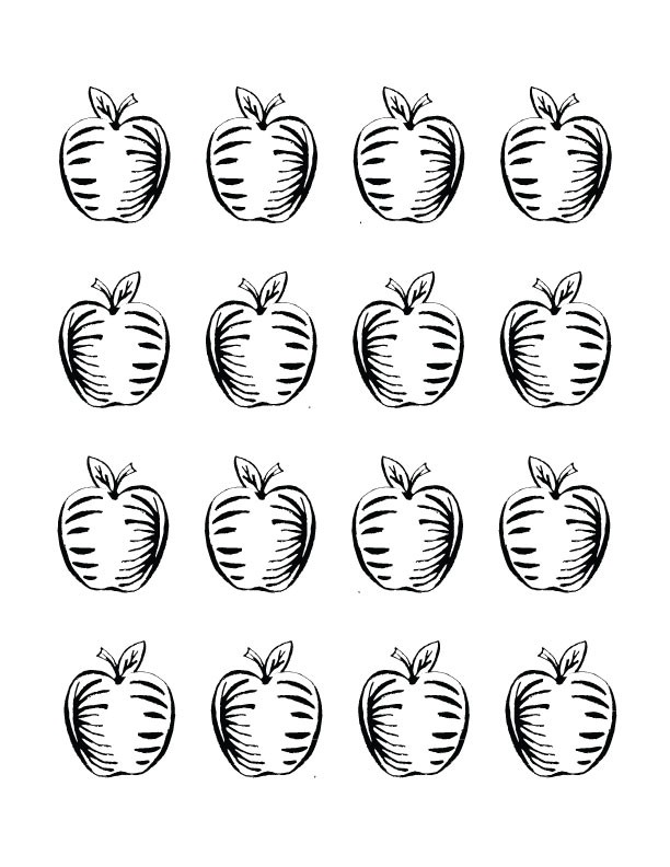 Printable Apple Adult Coloring Sheet