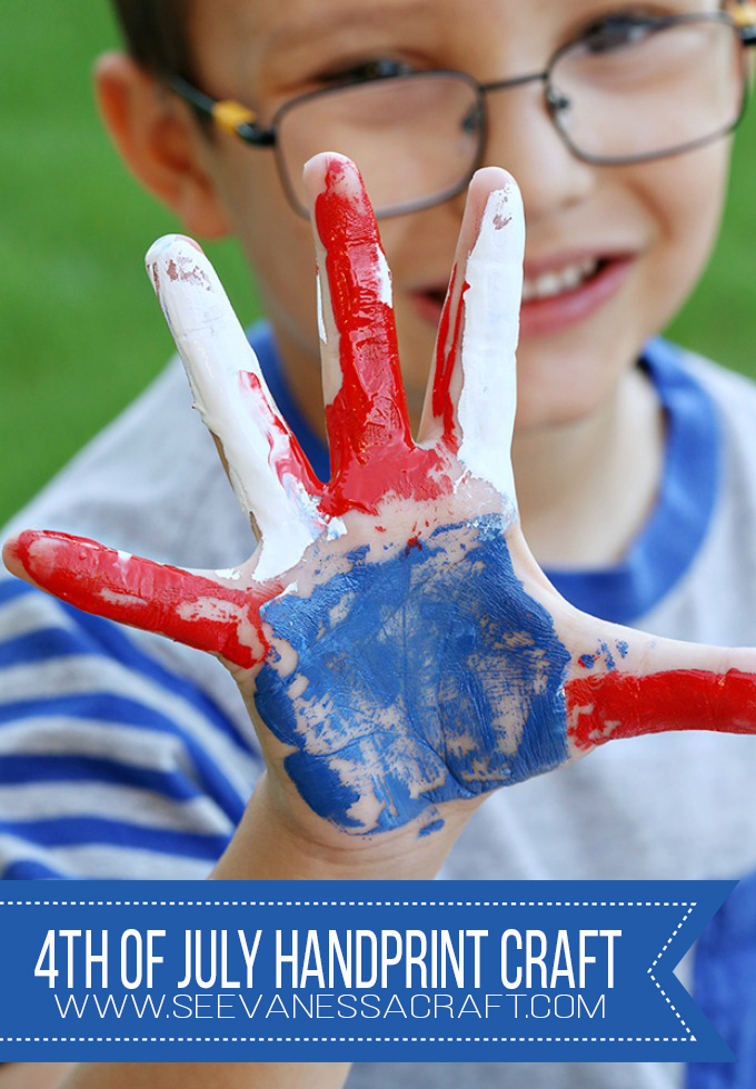 4th of July DIY Handprint Flag Art for Kids