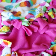 Craft: Easy Fleece Tie Blanket