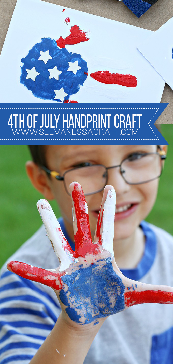 DIY 4th of July Flag Handprint Craft for Kids