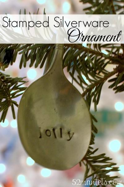 silver spoon ornament 52mantels.com
