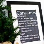 Christmas: Free Chalkboard Printable