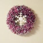 Christmas: Tinsel Snowflake Wreath