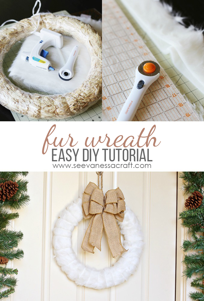 Fur Winter Wreath Tutorial
