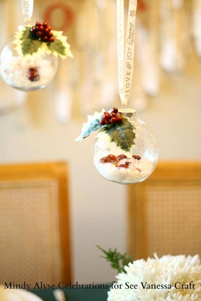 Hanging Mistletoe DIY Ornaments