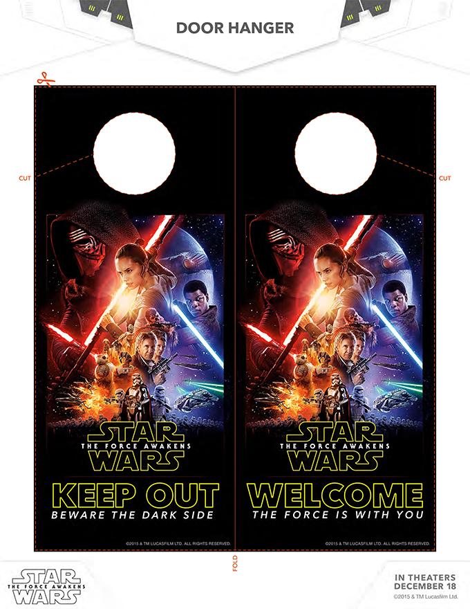 Star Wars Door Hanger