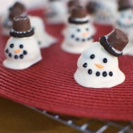 Christmas: Snowman Oreo Cookie Balls