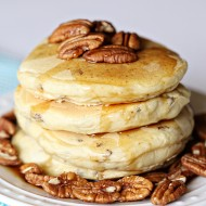 Homemade Buttermilk Pecan Pancakes