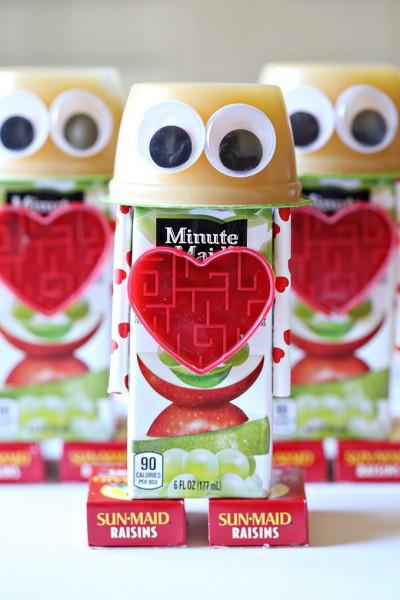 Robot Valentine's Day Snacks for Kids