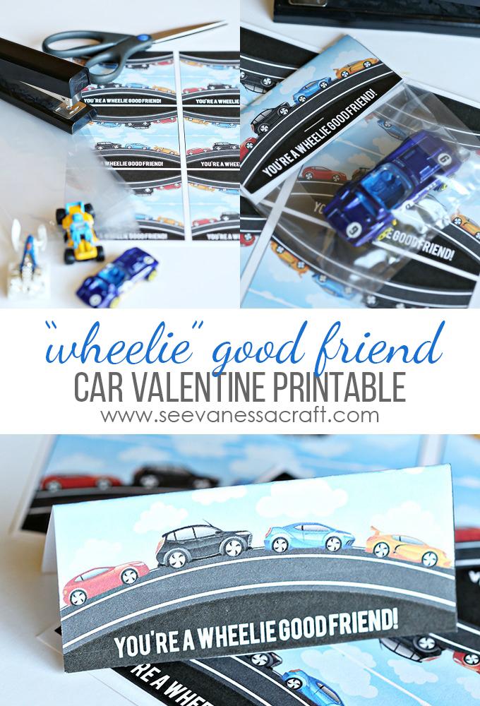 Wheelie Good Friend Car Valentine copy
