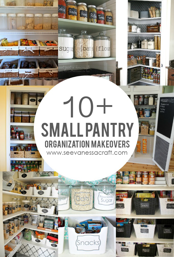 Organization: 10+ Small Pantry Makeovers - See Vanessa Craft
