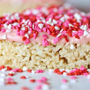 Valentine's Day Heart Crispy Marshmallow Treats