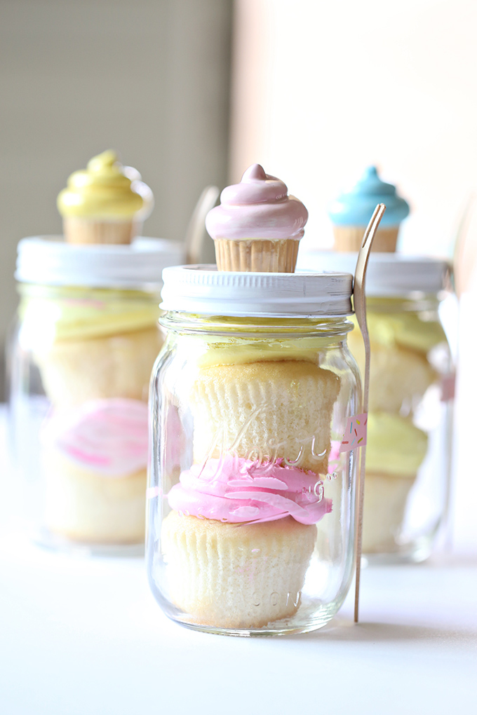 Craft birthday cupcake mason jar gift see vanessa craft for Crafts for birthdays as a gift