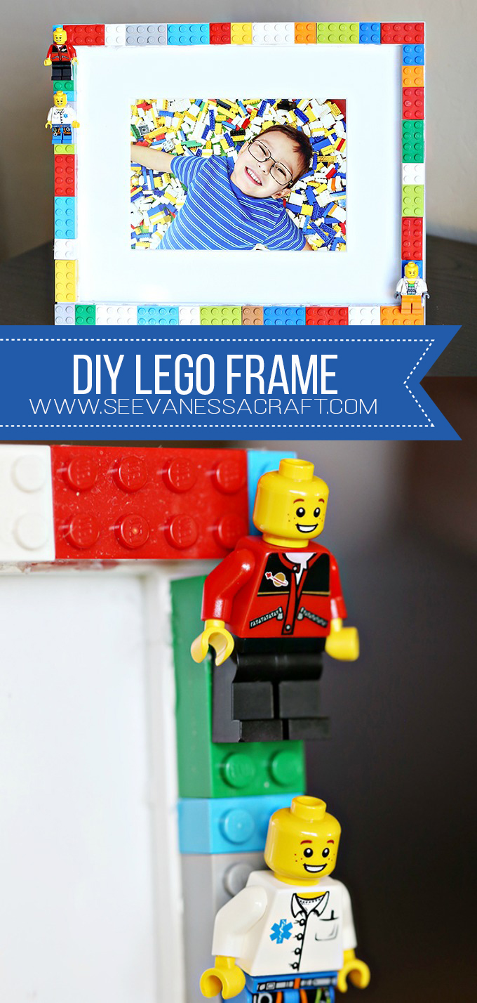DIY LEGO Mini Figure Frame Craft for Kids