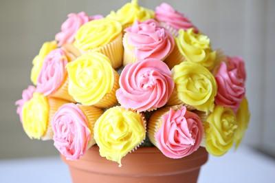 Flower Cupcake Bouquet Tutorial