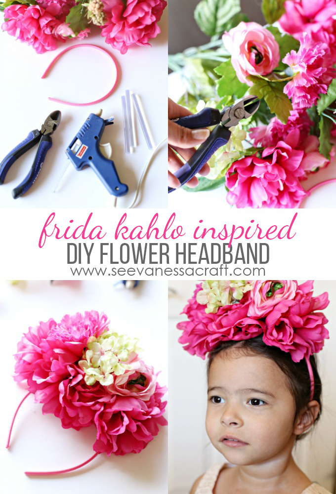 Flower Headband Inspired by Frida Kahlo copy