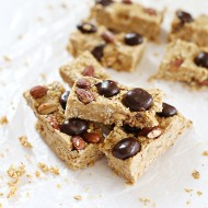 No Bake Homemade Fruit and Nut Granola Bars