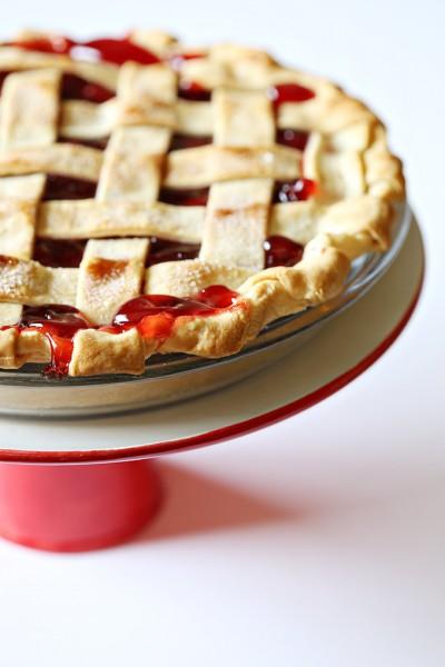 Lattice Crust Cherry Pie Recipe for Pi Day