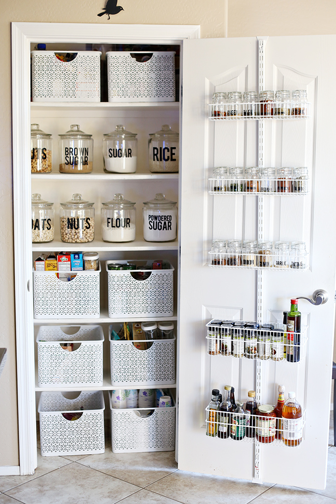 Organizing Before And After: Organization: Small Pantry Makeover