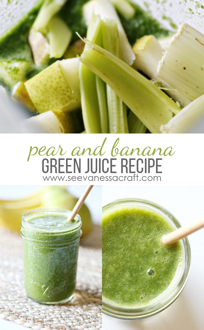 Pear and Banana Green Juice Smoothie Recipe
