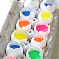 Craft: Paint Filled Eggs Canvas Art