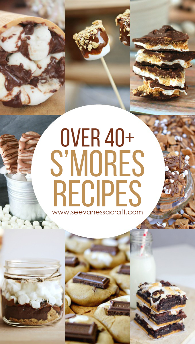Over 40+ Chocolate & Marshmallow S'mores Recipes for Summer