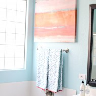 DIY: Coral and Aqua Bathroom Makeover