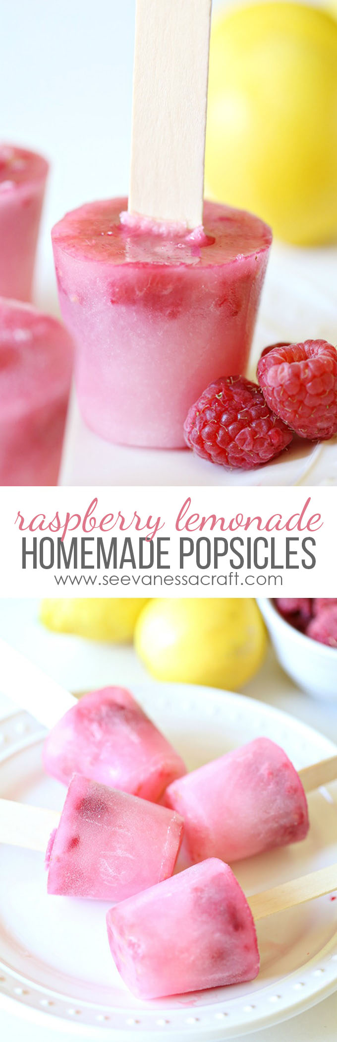 Homemade Raspberry Lemonade Popsicles